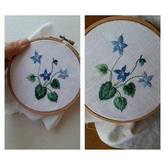 제비꽃  #프랑스자수 #서양자수 # embroidery