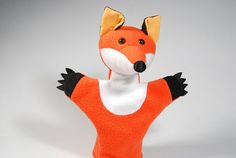 Animal hand puppet for children  fox Kamilla by Dominna on Etsy, $28.00