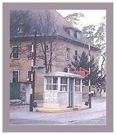 Entrance to the barracks of the military base I lived on in Germany.