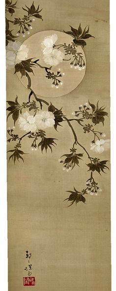 Nozawa Teiun, Rimpa School, Meiji period TSUKI NI SAKURA ZU