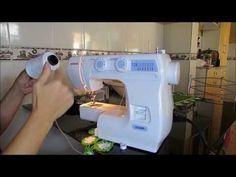 Quem não tem galoneira pode improvisar fazer essa barra em malha com costura reta dupla na máquina doméstica comum. Veja todas as dicas aqui!