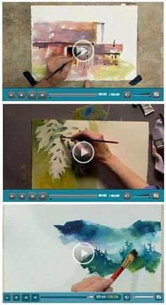 130+ Free DIY Watercolor Videos - Jerry's Artarama lets you enjoy a bunch of free watercolor how-to video demonstrations by talented watercolor artists. Beginner or advanced, you'll find helpful advice and techniques for your watercolor portraits, landscapes, seascapes and more. (Photo: Watercolor video demonstrations by Tom Jones and Linda Kemp) Click through to learn while watching your favorite videos.