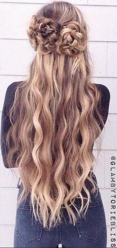 halfway up hairstyle idea