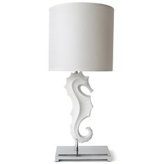 Jonathan Adler Seahorse Lamp in All Lighting  base:18 wide x 35.6 tall, shade: 26.7 wide x 25,4 high  • total height 63.5 см