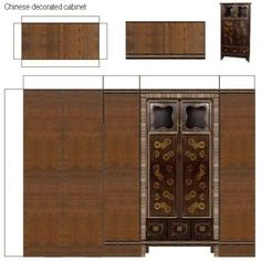 Chinese decorated cabinet By FATNA in tutorials