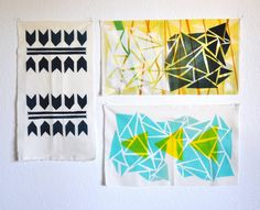 Poppytalk: DIY : Print Your Own Fabric.  Looks pretty time consuming but could make an awesome weekend project!