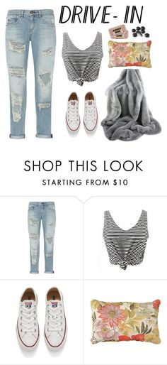 """""""Drive-In Date"""" by mxcan ❤ liked on Polyvore featuring rag & bone, Converse and Improvements"""