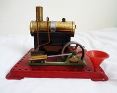 Vintage stationary mamod stationary steam engine by Bluemoondreams