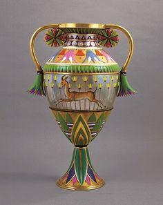 Egyptian Vase B, called 'Egyptian Champollion' porcelain, 1832 H. Manufacture De Sevres, Classical Period, Grand Palais, Vase, Objet D'art, Antique China, Decoration, Les Oeuvres, Color Inspiration