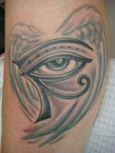 Pin Era Eye And Winged Egyptian Tattoo on Pinterest New Tattoos, Tribal Tattoos, Egyptian Eye Tattoos, Eyes Without A Face, Wings, Feathers, Feather, Ali