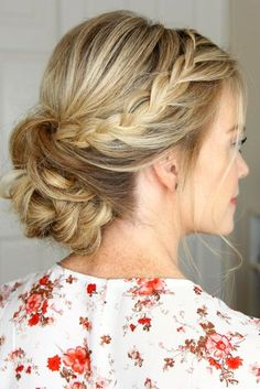 Step Tutorial for a Fun Variation of Braided Updos ★ See more: http://lovehairstyles.com/braided-updos-tutorial-fun-variation/