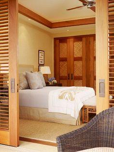 Perfect open up hide away bedroom space/guest room/studio apartment idea