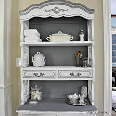 A French Furniture Makeover with Maison Blanche - This beautiful transformation was achieved with Maison Blanche Vintage Furniture Paint. Wonderful before and after photos!