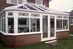 Your conservatory can feature a lean-to section along the house wall with a projection in any of the conservatory styles: Victorian, Edwardian or gable-ended. Description from coventry-conservatories.co.uk. I searched for this on bing.com/images