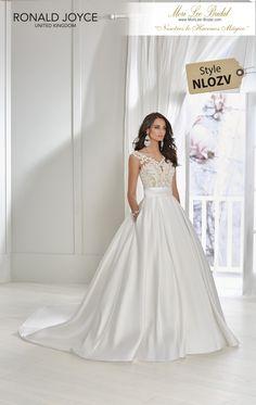 b0e7fa28a75c Estilo NLOZV TAMARA A soft mikado ball gown with a beaded lace bodice,  flattering wide