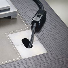 Amleto Desk detail for wires