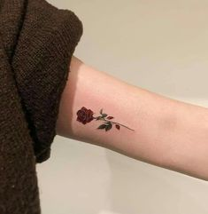 Outstanding tiny tattoos ideas are offered on our internet site. - Outstanding tiny tattoos ideas are offered on our internet site. Read more and you will not be sor - Mini Tattoos, Tiny Rose Tattoos, Tiny Tattoos For Girls, Black Rose Tattoos, Body Art Tattoos, Small Tattoos, Small Colorful Tattoos, Subtle Tattoos, Pretty Tattoos