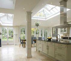 Lantern / Skylight over the kitchen dining area via Parish Conservatories