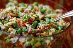 amish ham & pea salad   ChinDeep   Bloglovin'