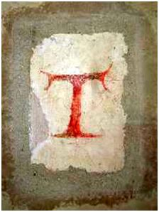 St Francis's own writing = the Tau Cross