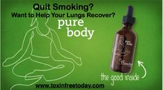 Did you know what cigarette smoke contains 4,700 chemical compounds of which 60 are know carcinogens (according to quitsmoking.com). Find out how to help your lungs to heal by removing these toxins from your body. Click on the link and go to www.toxinfreetoday.com and find out what you can do to repair the damage smoking does, even if you are still smoking.