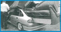 """Liebe AutoErlebniswelt Freunde, die Polizei hat diesen Renault Laguna, aus dem fließenden Verkehr genommen. Der Fahrer des Fahrzeuges ist von zu Hause ausgezogen und hat vor lauter Hektik das Thema """"Ladungssicherung"""" anscheinend komplett vergessen...!!! SO NICHT...!!! Euer Team der AutoErlebniswelt-Tü Taunus"""