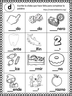 Give your kindergartners meaningful Common Core literacy and math activities with this 30 page activity set. This set has 30 NO prep activities including: Spanish Worksheets, Spanish Teaching Resources, School Worksheets, Printable Worksheets, Free Printable, Common Core Activities, Teaching Activities, Extroverted Introvert, Math Literacy