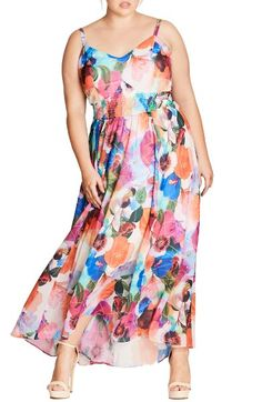 Main Image - City Chic Pretty Day Maxi Dress (Plus Size)