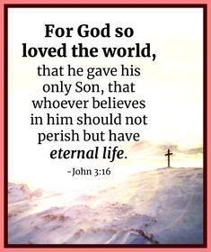 John 3:16 Gospel Of John, John 3, Believe, Life