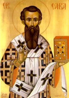 A beautiful icon of St. Sava, father and founder of the Serbian Eastern Orthodox Christian Church.