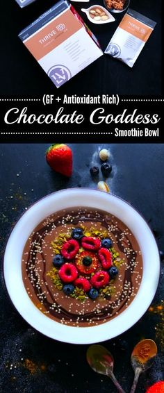 Chocolate Goddess Smoothie Bowl (GF + Antioxidant Rich) : #chocolate #smoothie #bowl #smoothie #smoothies #smoothiebowl #breakfast #Healthybreakfast #snack #onthego #superfood #vegan #gf #weightloss #healthy #protein #nutritious #ingredients #fruit #Fruitrecipes