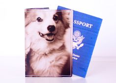 Corgi Passport Cover - Recycled Paper Passport Cover with Two Puppy Dogs. $14.00, via Etsy.