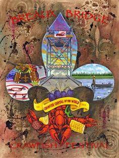 St. Martin. Breaux Bridge Crawfish Festival 2012 Poster