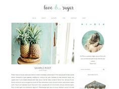 LOVE & SUGAR WORDPRESS THEME by Bites to Brand on @creativemarket
