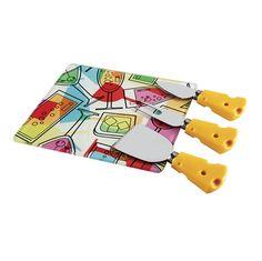 Conjunto de Queijo Mart Com 4 Peças - Amarelo
