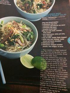Lemon grass and beef noodle salad