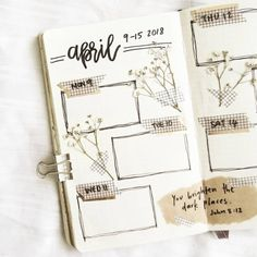 Bullet journal weekly layout, hand lettering. | @reverieandrepose