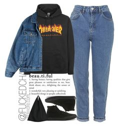 """thrasher"" by fuckedchanel ❤ liked on Polyvore featuring Topshop, Vans and MM6 Maison Margiela"