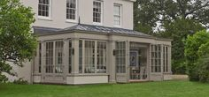 Conservatory to die for ; Georgian Interiors, Georgian Homes, Garden Room Extensions, House Extensions, Outdoor Rooms, Outdoor Living, Orangery Roof, Victorian Conservatory, Orangery Extension