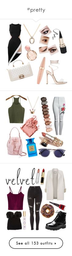 """""""#pretty"""" by idontevenknow4765 ❤ liked on Polyvore featuring David Koma, Swarovski, Bulgari, Chanel, Maybelline, Street Level, WithChic, Bobbi Brown Cosmetics, Disney Couture and Tom Ford"""
