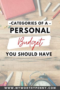 If you are new to budgeting then you might be wondering what are the categories that you should include in your monthly budget. Here are the categories for a personal budget that you should have in your budgeting worksheet. Budgeting for beginners.
