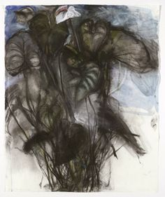 Jim Dine (American, b. Untitled (Water lilies), Watercolor, pastel and chalk on paper, 84 x cm Jim Dine, Art Addiction, Plant Drawing, Drawing Projects, Water Lilies, Botanical Art, Contemporary Paintings, Pastel, Dibujo