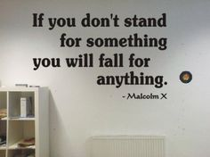 Amazon.com: Malcom X If you dont stand for something famous quote Wall Art Vinyl Decal Sticker w/ FREE Sakari Graphics Decal: Home & Kitchen