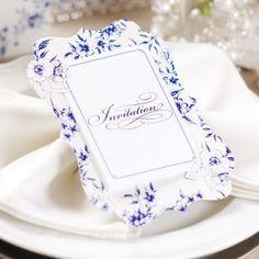 シンプルお洒落な小花柄♡ ネイビーの結婚式招待状のまとめ。センスがいい招待状一覧。