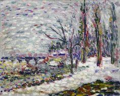 Winter Landscape on the Banks of the Seine Matisse SAM Henri Matisse, Matisse Art, Post Impressionism, Impressionist, Seattle Art Museum, Winter Landscape, Types Of Art, Printmaking, Banks