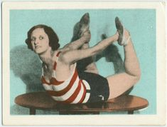 Seriously loving her exercise outfit! Exercise 23. Exercise for the back. (ca. 1918-1943)
