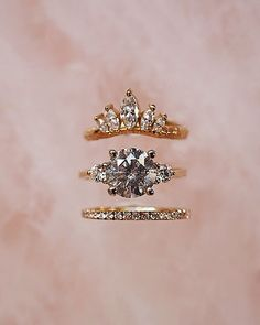A salt n pepper engagement ring stacker to brighten your day! Chupi Jewelry is chock full of sparkle stones like this - all handmade, all bedazzling. Boho Engagement Ring, Cushion Cut Engagement Ring, Antique Engagement Rings, Platinum Wedding Rings, Titanium Wedding Rings, Heirloom Rings, Infinity Ring Wedding, Engraved Rings, Jewelry Design