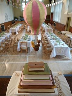 James & Jo 23/03/13  Wedding cake by Liz Fielding.   Library books and hot air balloon!