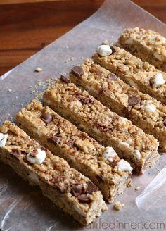 Homemade S'more Granola Bars! Yum!