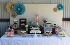 Vintage/Rustic - pink and turquoise Engagement Party Ideas | Photo 1 of 15